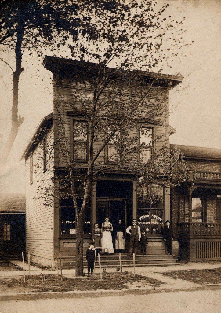 John Vavra House/White Elephant Building, circa 1900. (photo/courtesy National Czech & Slovak Museum & Library)